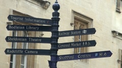 Oxford Tourist Info Sign Stock Footage