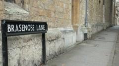 Brasenose Lane Oxford Stock Footage