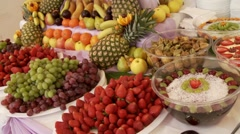 Many different Fruits - stock footage