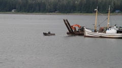 Small tug boat Stock Footage