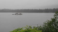 Foggy day fishing Stock Footage