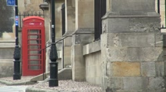 Red Telephone Box Oxford Stock Footage