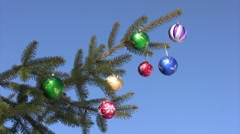 Christmas and New Year Ornament Stock Footage