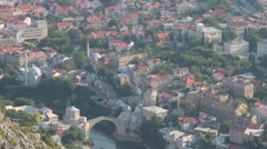 Stock Video Footage of Landscape Mostar. 2
