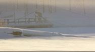 Scandinavia Finland Finnish people hot sauna swim frozen Baltic sea Stock Footage