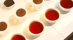 Tea Grades For Tea Tasting - stock footage
