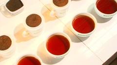 Tea Grades For Tea Tasting Stock Footage