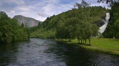 Beautiful Scandinavien Landscape - stock footage