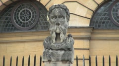 Sheldonian Statue Oxford Stock Footage