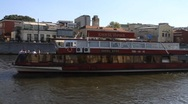 Stock Video Footage of Moscow Scene Boat Tour