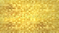 Gold background title sequence - stock after effects