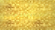 Stock After Effects of Gold background title sequence