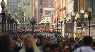 Stock Video Footage of Moscow Scene Arbat Street
