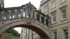 Bridge of Sighs Oxford Stock Footage