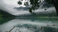 Stock Video Footage of Rainy Fjord in Norway