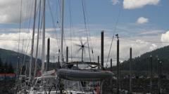 Windmill, sailboat Stock Footage
