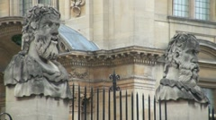 Statues Sheldonian Oxford Stock Footage