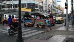 Thailand Bangkok Khaosan road Stock Footage