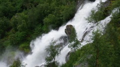 Waterfall in Norway Stock Footage