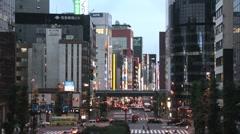 Tokyo City - Avenue - Shimbashi Stock Footage