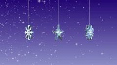 3D Snow Flake Seamless Loop - stock footage
