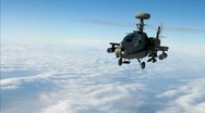 ATTACK HELICOPTER (APACHE) Stock Footage