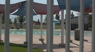 Empty swimming pool pan Stock Footage