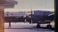 Stock Video Footage of Passenger Plane on Tarmac Circa 1950 (Vintage Film 8mm Home Movie) 518