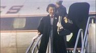 Stock Video Footage of Passenger Exits Plane Tarmac AIRPORT Travel 1950 Vintage Film Home Movie 519