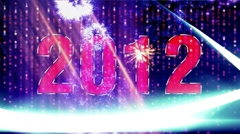 "New year 2012 vegas design star rain    "" Think Different "" Stock Footage"