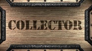 Stock Video Footage of collector on wooden stamp
