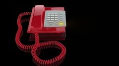 Emergency punainen puhelin soi, valo vilkkuu Arkistovideo