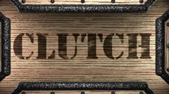 Stock Video Footage of clutch on wooden stamp