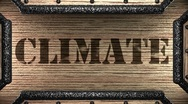 Climate on wooden stamp Stock Footage