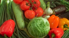 Wash vegetables, drop water Stock Footage