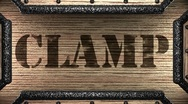 Clamp on wooden stamp Stock Footage