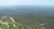 Stock Video Footage of Adirondack Mountains viewed from the Top of Whiteface