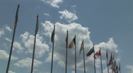 Stock Video Footage of International Flags