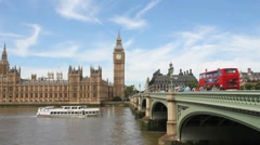 Westminster in London, UK Stock Footage