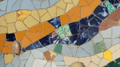Mosaic tiling - Pan L-R Stock Footage