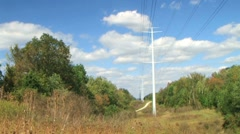Power Lines Time Lapse Stock Footage