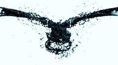 Oil Splash, Alpha Stock Footage
