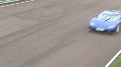 Koenigsegg overhead shot Stock Footage
