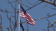 American Flag in wind.mp4 Stock Footage