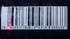 Scanning bar code Stock Footage