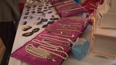 Jewelry table.mp4 Stock Footage