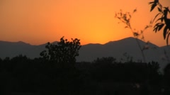 Colorful sunset on the mountain horizon Stock Footage