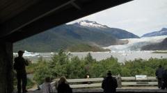 Mendenhall glacier Stock Footage