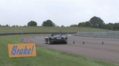 Brake! for corner. Stock Footage