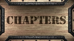chapters on wooden stamp - stock footage